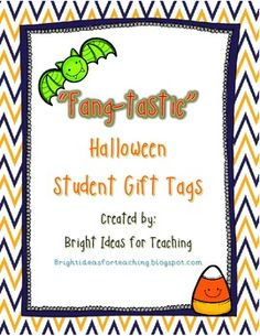 fangtastic halloween gift tags tpt freebie great candy free gift idea for kids - Halloween Gift Tag