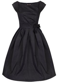 Lindy Bop 'Lucille' Classy 1950's Vintage Style Pleated Rockabilly Party Dress (L, Black) Lindy Bop,