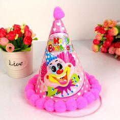 批发 儿童生日派对帽 帽子装饰 party用品 宝宝 生日帽 道具布置