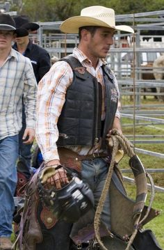 "I have no idea who this guy is, but he is one sexy cowboy!!  I love cowboys!!  The real ones, not the ""weekend cowboys"" !"