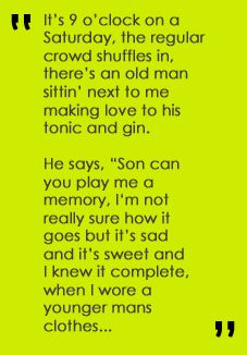 Billy Joel sings of ordinary people and extraordinary emotions. This is Piano man.one of my favorite songs. Great Song Lyrics, Lyrics To Live By, Song Lyric Quotes, Music Lyrics, Music Quotes, Music Songs, Singing Quotes, Piano Songs, Music Love