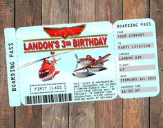 Disney Planes Fire and Rescue Invitation by KirstensKreation on Etsy