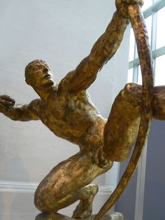 Herakles the Archer, Emile-Antoine Bourdelle, gilded bronze, 1909