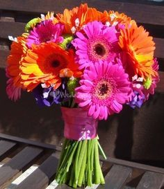 This is the EXACT bouquet I want for my wedding. I love gerberas!