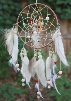 Luckdragon Dreamcatcher, Jade/White/Copper/Crimson, Asian & Native American, Handmade (Medium)