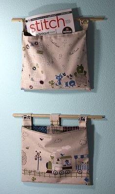 Organizador de tecido para parede.
