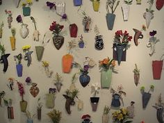"""An amazing wall of vases is the first thing that catches your eye at the gorgeous """"Ceramics Conversations"""" exhibition"""