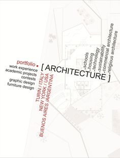 Architecture portfolio on Behance Architecture Portofolio, Turin, Behance, Design
