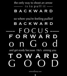 Focus forward...