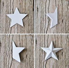 reasonable noise: [Nachmachtipp] Beautiful Christmas Star in Christmas Origami, Christmas Settings, Christmas Star, Christmas Bells, Christmas Holidays, Christmas Crafts, Xmas, Useful Origami, Origami Easy