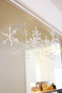 DIY Indoor Snowflake Flurry