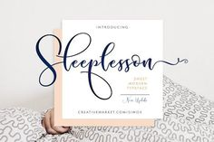 Sleeplesson Modern Script A script font with a smooth handwritten style. Comes with 434 glyphs. Sleplesson is perfect for branding projects, homeware designs, product packaging, use in name card,. Free Font Design, Web Design, Graphic Design, Font Free, Vector Design, Design Art, Logo Design, Modern Script Font, Modern Fonts