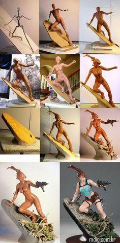 ótima escultura em progresso
