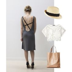 Perfect summer dress with lace! by purplemaroon on Polyvore featuring polyvore, fashion, style, TIBI, Eugenia Kim, lace, fabulous, summerstyle, springtrend and springsummer2015