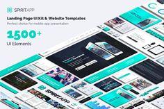 SpiritApp Landing Page UI Kit (Light Style) by creakits on Envato Elements