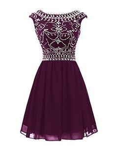 Short Prom Dress,Chiffon Homecoming Dress,Rhinestone Homecoming Dress,Cap Sleeve Prom Dress,Cute Homecoming Dress,Cocktail Dress,PD0411
