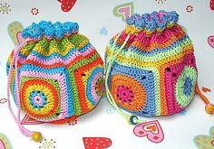 Ravelry: Crocheted pouch BAGGY - crochet pattern PDF ebook pattern by Paula Matos