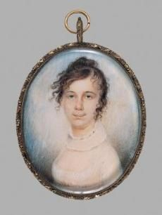 early american water color portrait miniatures | Miniature Portraits