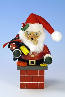 Christian Ulbricht USA - SM Santa Claus On Chimney Red available at #Binns of Williamsburg