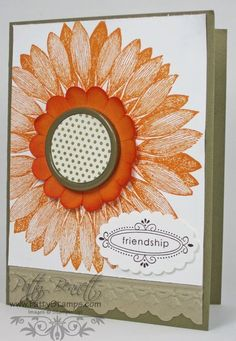 Stampin Up Sunflower = another underused stamp in my collection@
