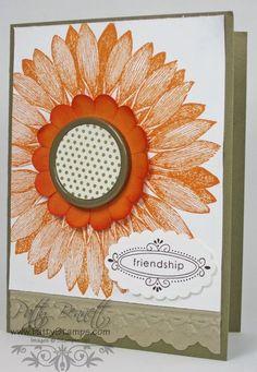 Stampin Up Sunflower
