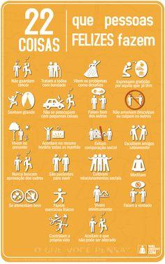 22 Coisas que pessoas felizes fazem