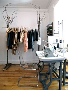Awesome wood clothing rack. Wood. Literally. #wood #DIY #bedroom