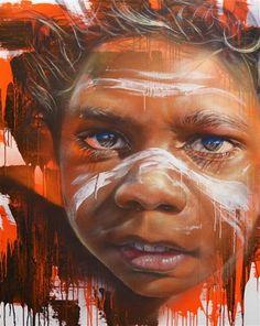 Street Art for Matt Adante Vic Graffiti Art, Urban Graffiti, Street Mural, Street Art Graffiti, Airbrush Art, Street Art Melbourne, Arte Black, Urbane Kunst, Aboriginal Art