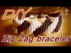 How to make a macrame zig zag knot bracelet - YouTube