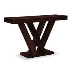 Monte Espresso Occasional Tables Sofa Table - Value City Furniture $249.99. #vcfwishlist