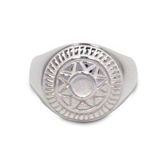 Signet Ring Silver  1053  Inca ring sun ring earth ring by IHTEC