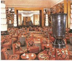 """Main Lounge, French Line """"Normandie"""""""