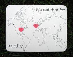 It's not far