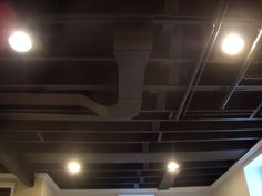 basement ceiling ideas with removable bead board #basement #ceiling