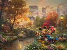 Mickey and Minnie | Sweetheart Central Park by Thomas Kinkade Studios