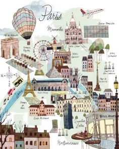 Paris map by Eva0707