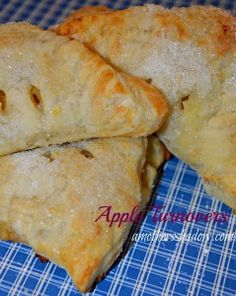 Homemade Old Fashioned Apple Turnovers or Tarts