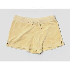 Pre-owned Juicy Couture Shorts (€16) ❤ liked on Polyvore featuring shorts, dark yellow, juicy couture shorts, yellow shorts and juicy couture