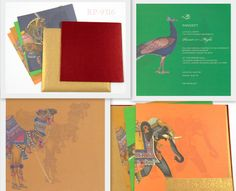 In Indian Weddings, use of animals is the symbol of royal status. Order this #WeddingCard- http://indianweddingcard.in/RP9316.html #RoyalWeddingInvitation