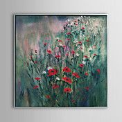 Floral Red Flowers Framed Oil Painting – AUD $ 118.05