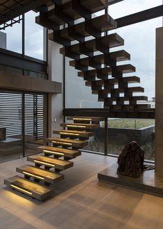 House Boz | Staircase | M Square Lifestyle Design #Design #Interior #Light #Contemporary
