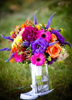 bright color bouquet