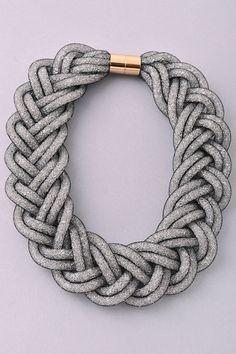 Braided Mesh Statement Necklace