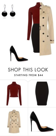 classic chic by jennyestrella on Polyvore featuring A.L.C., Burberry, Christian Louboutin and Bling Jewelry