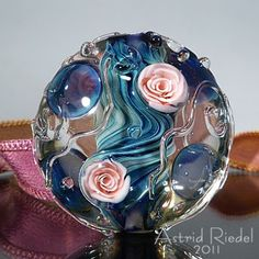 Astrid Riedel Glass Artist: Pink Roses!