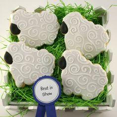 Wooly Sheep Sugar Cookies