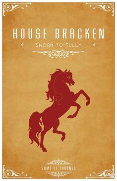 House Bracken. Game of Thrones house sigils by Tom Gateley. http://www.flickr.com/photos/liquidsouldesign/sets/72157627410677518/