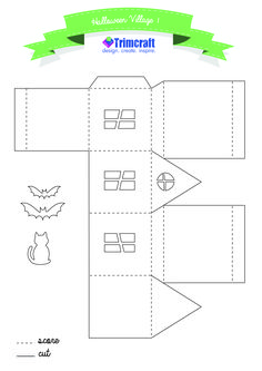 This is a photo of Unusual Printable Haunted House Template