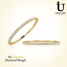 Buy online designer and #fashionable #Bangles in Diamond at IskiUski, one stop destination for designer and quality diamond bangles.