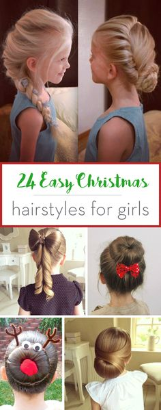 Forget the Advent Calendar and try out our 24 Easy Christmas Hairstyles for Girls to make the countdown to the big day more fun!